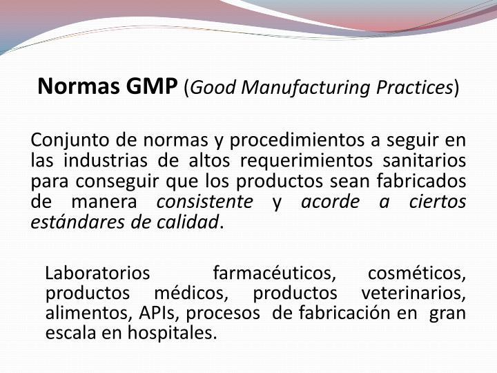Normas GMP