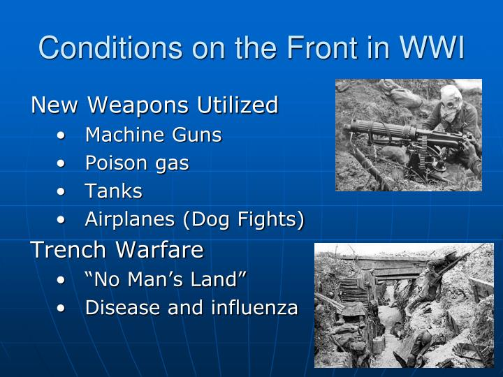 Conditions on the Front in WWI