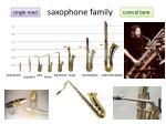 saxophone family