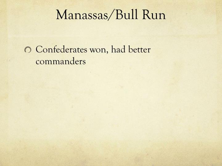 Manassas/Bull Run