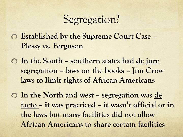 Segregation?