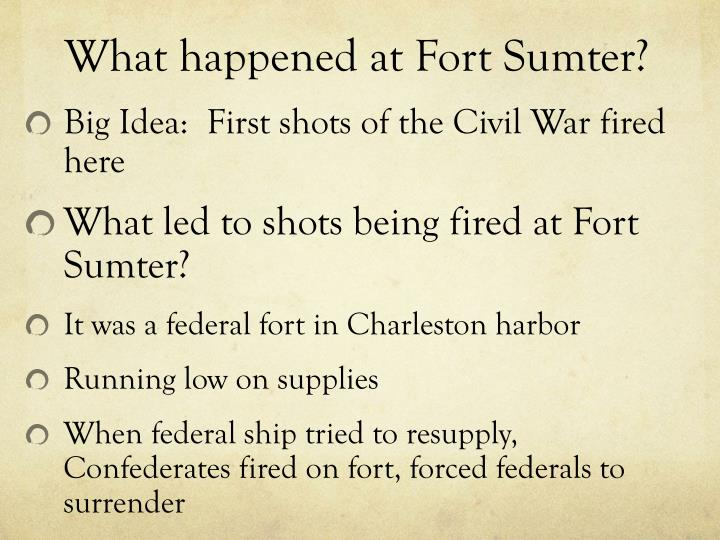 What happened at Fort Sumter?