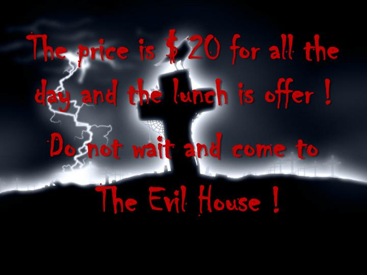 The price is $ 20 for all the day and the lunch is offer !