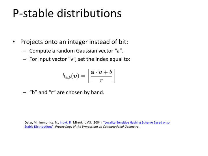 P-stable distributions