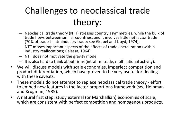 Challenges to neoclassical trade theory