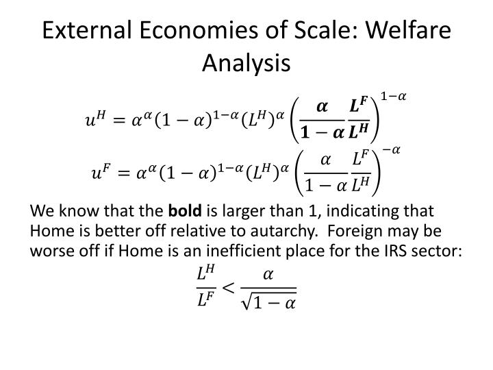 External Economies of Scale: Welfare Analysis