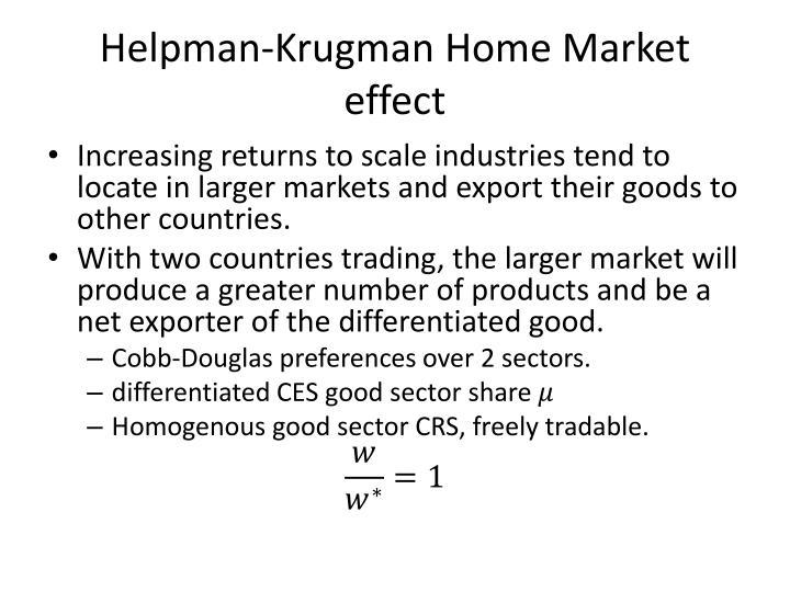 Helpman-Krugman
