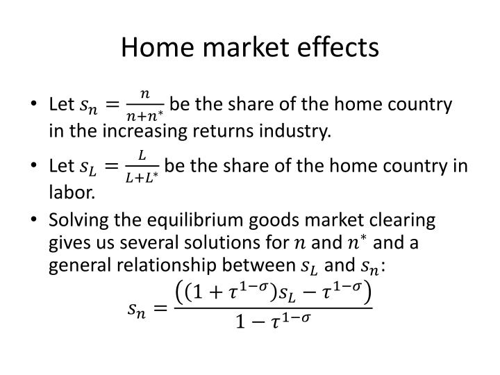 Home market effects