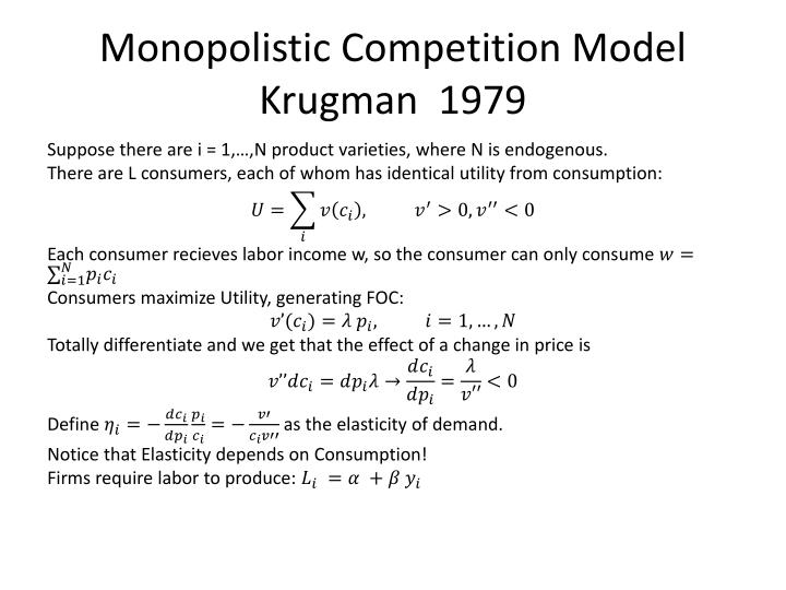 Monopolistic Competition Model