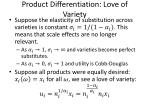 product differentiation love of variety