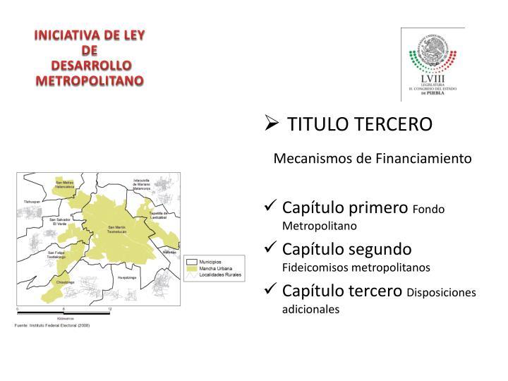 TITULO TERCERO