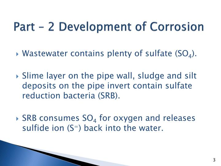 Part – 2 Development of Corrosion