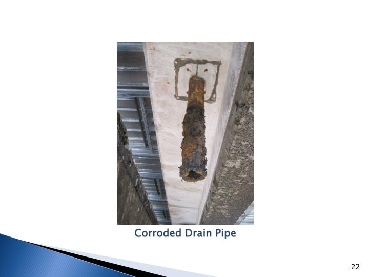 Corroded Drain Pipe