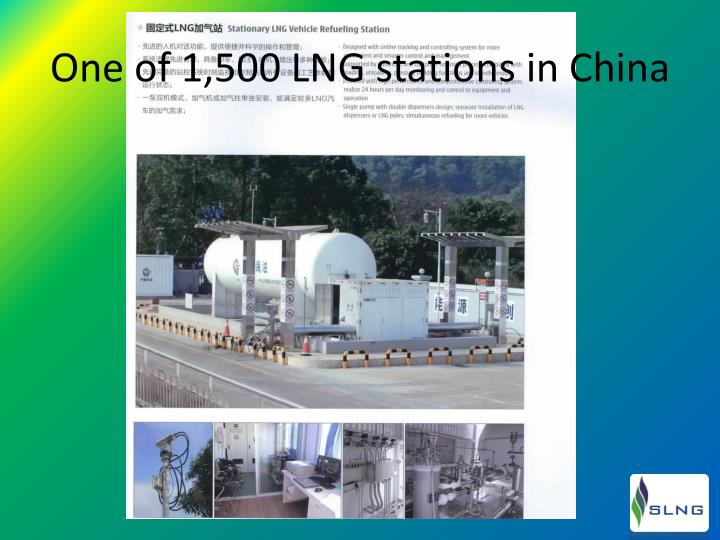 One of 1,500 LNG stations in China