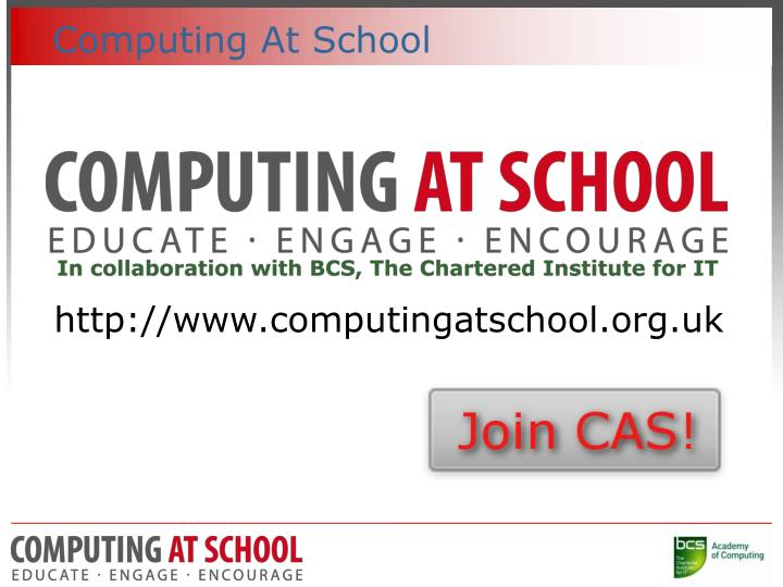Computing at school
