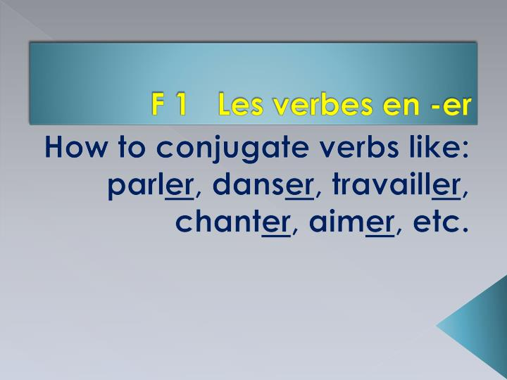 F 1   Les