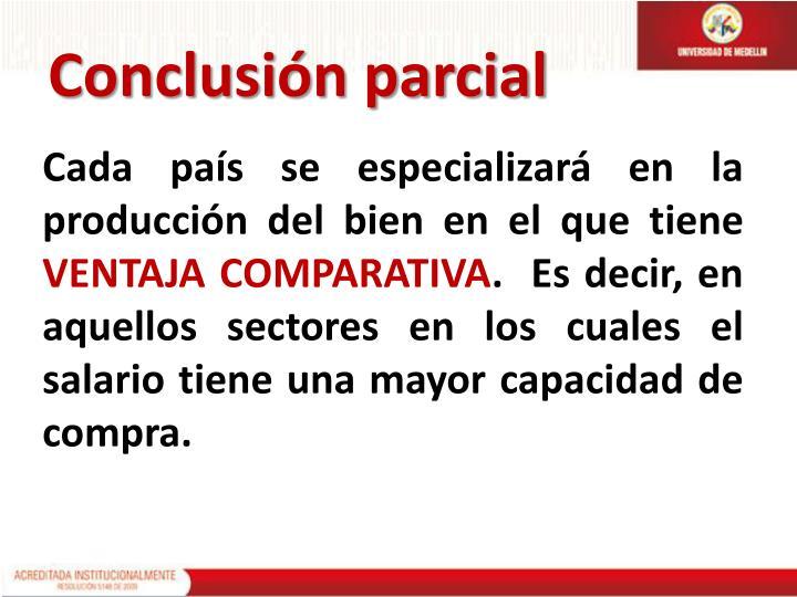 Conclusión parcial