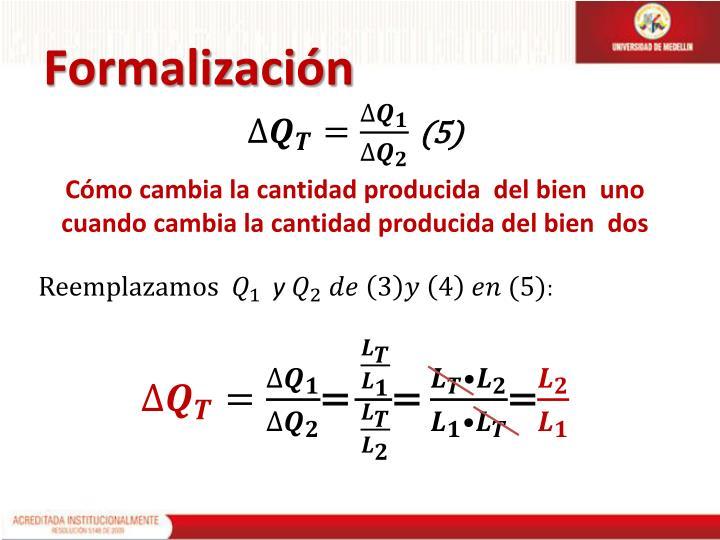 Formalización