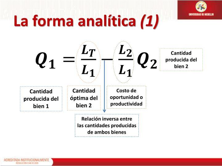 La forma analítica