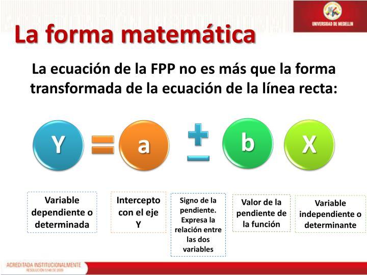 La forma matemática