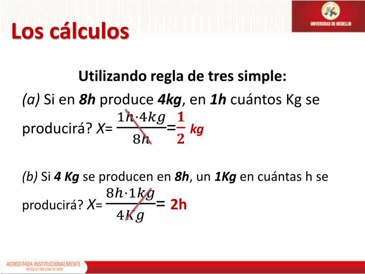 Los cálculos