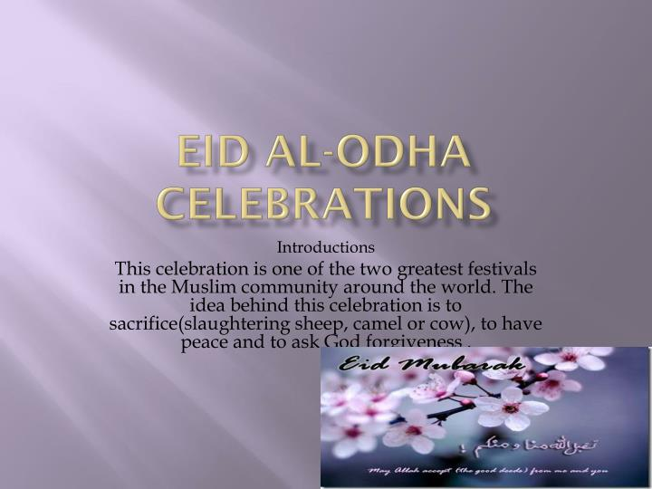Eid al odha celebrations
