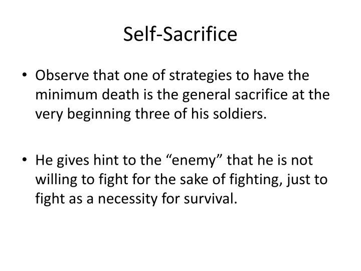 Self-Sacrifice