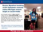 boston marathon bombing victim halloween costume makes michigan woman target on social media