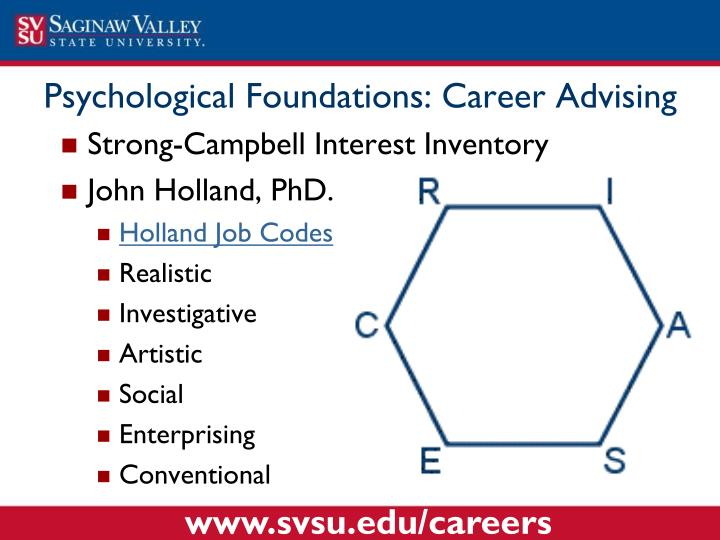 Psychological Foundations: Career Advising