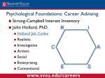 psychological foundations career advising1