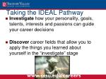 taking the ideal pathway