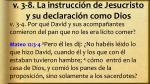 v 3 8 la instrucci n de jesucristo y su declaraci n como dios