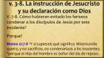 v 3 8 la instrucci n de jesucristo y su declaraci n como dios3