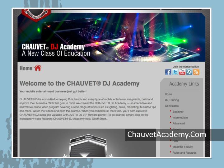 ChauvetAcademy.Com