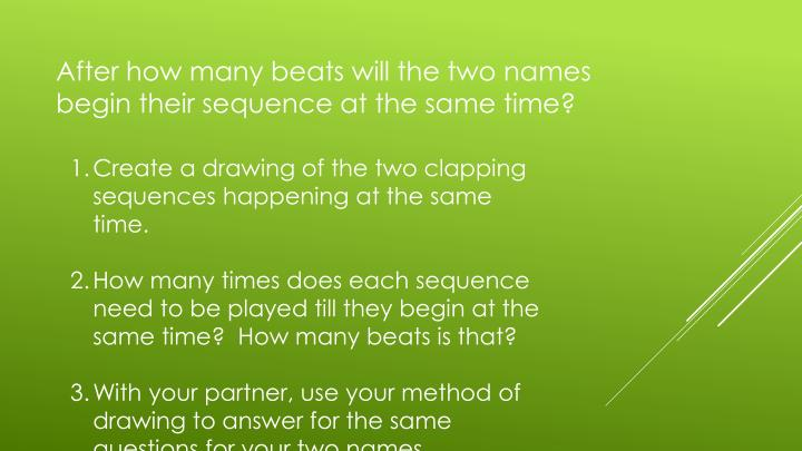 Create a drawing of the two clapping sequences happening at the same time.