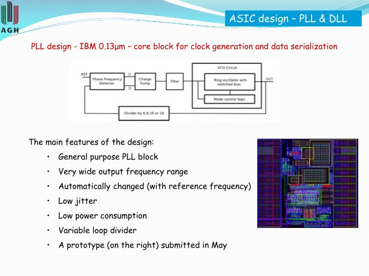 ASIC design – PLL & DLL