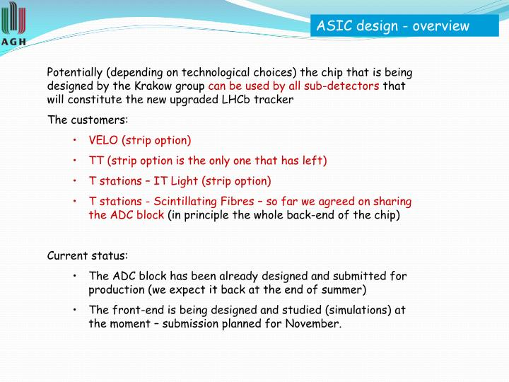 ASIC design - overview