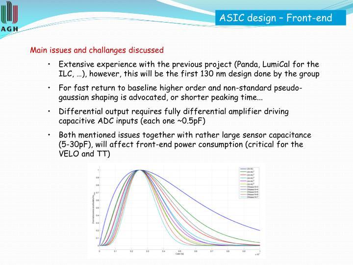 ASIC design – Front-end