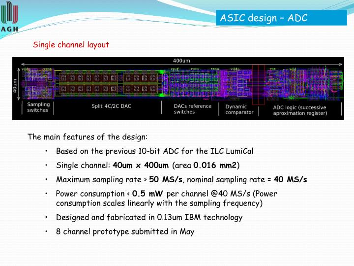 ASIC design – ADC