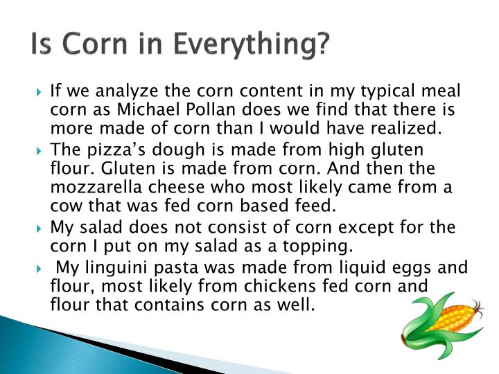 Is Corn in Everything?