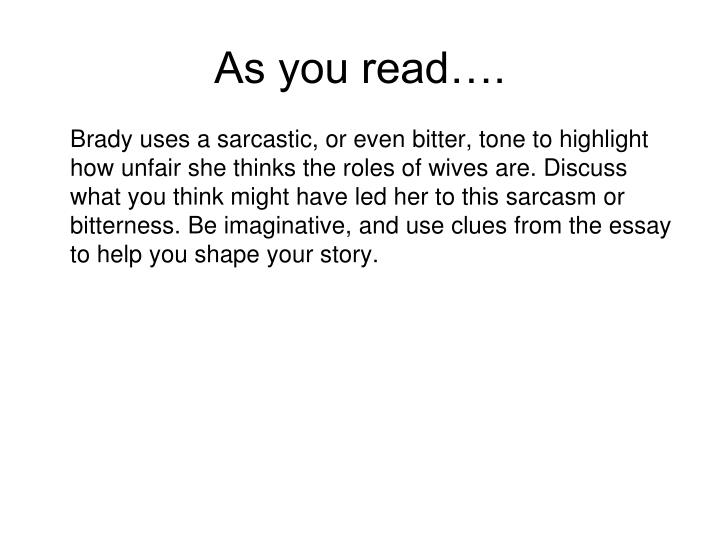 As you read….