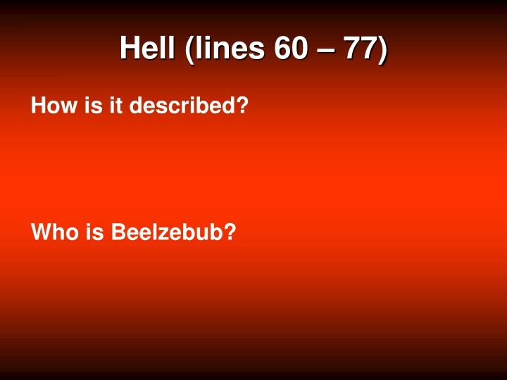 Hell (lines 60 – 77)