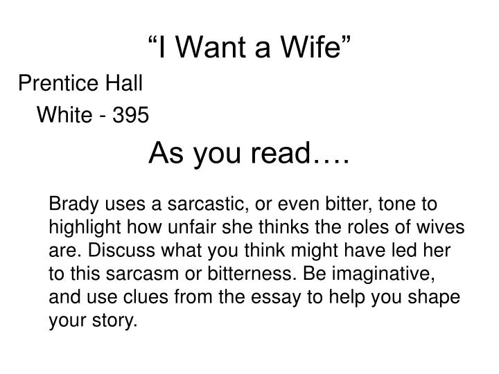 """""""I Want a Wife"""""""