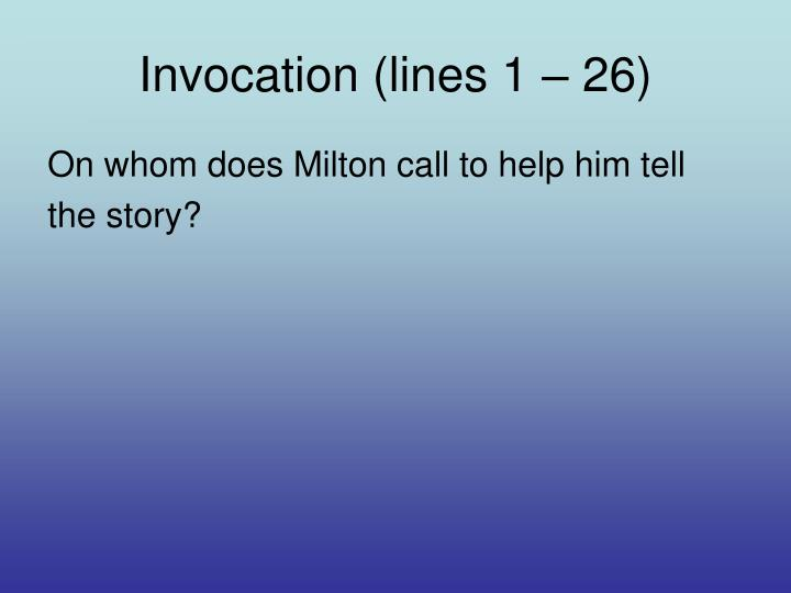 Invocation (lines 1 – 26)