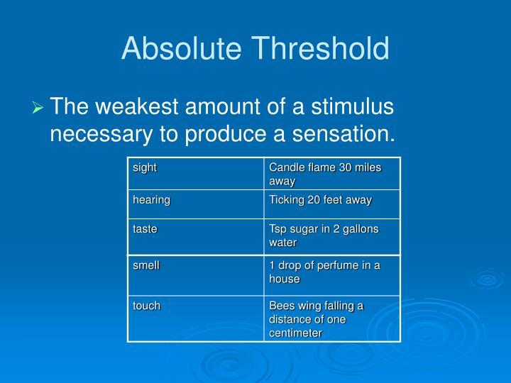 Absolute Threshold