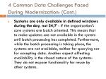 4 common data challenges faced during modernization cont1