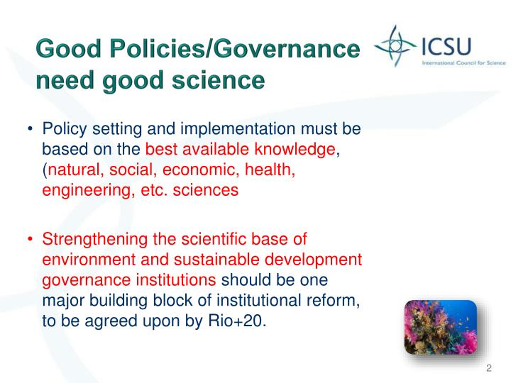 Good Policies/Governance