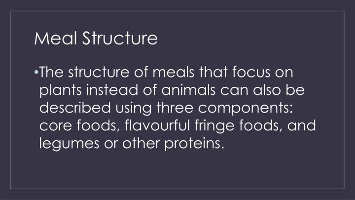 Meal Structure
