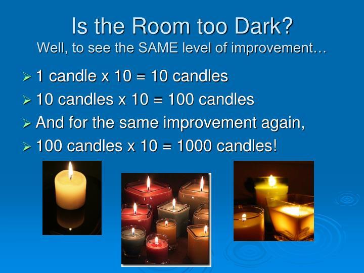 Is the Room too Dark?