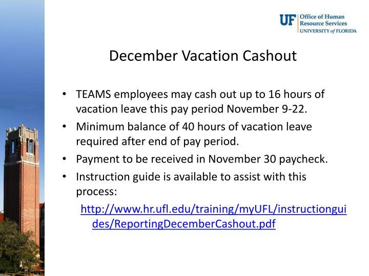 December Vacation
